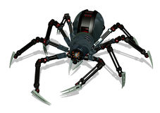 Aranha do robô - com trajeto de grampeamento Imagens de Stock Royalty Free