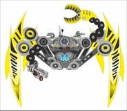 Aranha do robô do Cyborg da ficção científica ilustração do vetor