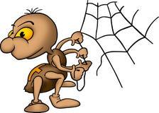 Aranha e aranha-Web Imagens de Stock Royalty Free