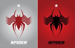 Aranha e estrela ilustração do vetor