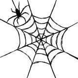 Aranha e Web Imagem de Stock Royalty Free