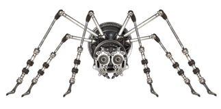 Aranha futurista do estilo de Steampunk Fotografia de Stock