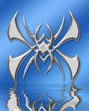 A aranha gosta ilustração stock