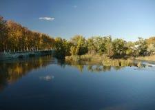 Aranjuez flod och trädgårdar Fotografering för Bildbyråer