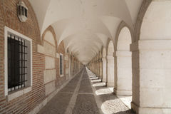 Aranjuez,Madrid,Spain. Arcade passageway near to palace of Aranjuez, province Madrid, Spain Royalty Free Stock Photography