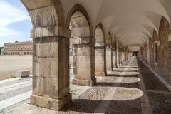 Aranjuez,Madrid,Spain. Arcade passageway near to palace of Aranjuez, province Madrid, Spain Royalty Free Stock Images