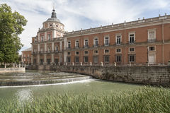 Aranjuez,Madrid,Spain. Royal Palace of Aranjuez, world heritage site unesco, pond and gardens,province Madrid, Spain Royalty Free Stock Photography