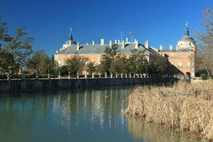 Aranjuez palace. The royal palace in Aranjuez seen across the river, Spain Royalty Free Stock Photo