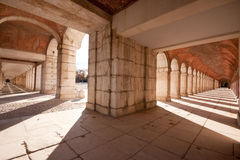 Aranjuez royal palace. Arches of the royal palace in Aranjuez Spain Stock Image
