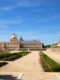 Aranjuez Royal Palace, Madrid. The magnificient surroundings of the Royal Palace o Aranjuez, a must-see destination in Madrid Stock Photo