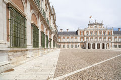 Aranjuez, Spain. Palacio Real, royal palace, Aranjuez, Spain. Classic architecture, iconic site touristic Stock Images