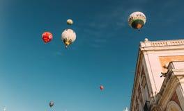 ARANJUEZ, SPANJE - OKTOBER die 14, 2017, hete impulslucht daarna vliegen Royalty-vrije Stock Afbeeldingen