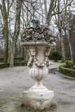Aranjuez, world heritage, gardens of the island next to the roya. L palace Stock Images