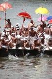 Aranmula Boat race. Oarsmen rowing in snake boats participating at Aranmula Boat race  in Aranmula 2010, Kerala, India Stock Images