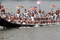 Aranmula Boat race. Oarsmen rowing in snake boats participating at Aranmula Boat race  in Aranmula 2010, Kerala, India Royalty Free Stock Photos