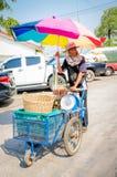 Aranyaprathet, Thailand : Man cambodian trolley. Stock Images