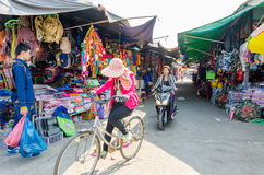 Aranyaprathet, Thailand : Rong Kluea Market. The Rong Kluea Market which is attached to the Cambodian border. At Aranyaprathet, Thailand Royalty Free Stock Images