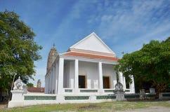 Aranyikawas tempel på Ratchaburi Thailand Arkivbilder