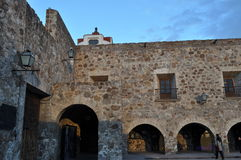 Aranzazu Square. This is the ex convent of San Agustin, build between 1749 and 1760 Royalty Free Stock Images