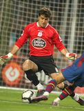 Aranzubia of Deportivo La Coruña. Aranzubia of Real Club Deportivo in action during a Spanish League match between FC Barcelona and Deportivo at the Nou Stock Photo