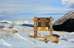 Arapahoe National Forest Scenic Summit Overlook in Colorado.  Stock Image
