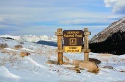 Arapahoemedborgare Forest Scenic Summit Overlook i Colorado Fotografering för Bildbyråer