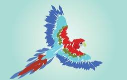 Arapapegaai Uitgespreide Vleugels royalty-vrije illustratie