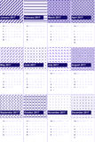 Arapawa and melrose colored geometric patterns calendar 2016 Royalty Free Stock Images