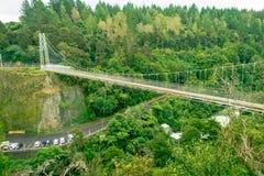 Arapuni Bridge over a Waikato river, Arapuni, New Zealand Stock Photography