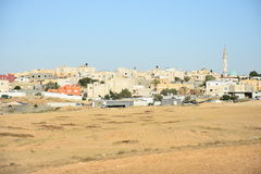 Arara ba Negev, Israel -  buildings in Arabic in the settlement. Middle East Arara in the Negev, Israel. May 11, Beersheba, Negev,2016 Stock Photography