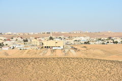 Arara ba Negev, Israel -  buildings in Arabic in the settlement. Middle East- Arara in the Negev, Israel. May 11, Beersheba, Negev, Israel 2016 Stock Photo
