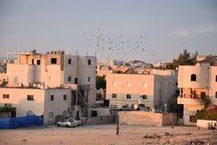 Arara dans le Negev, Israël - abandonnez Negev, le règlement d'Arar, bâtiments résidentiels Images stock