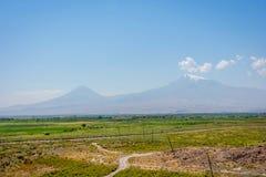ararat άνοιξη Τουρκία βουνών συνόρων της Αρμενίας Στοκ Εικόνες