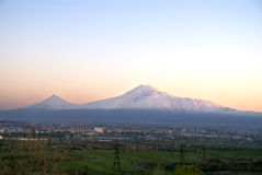 Ararat. Biblical legendary mount Ararat in Armenia Royalty Free Stock Photography