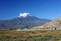 Ararat. Mountain in Turkey blue sky turkisch Royalty Free Stock Photo