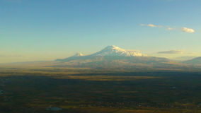 Ararat, Armenia. Famous biblical mount Ararat in Turkey Stock Photos