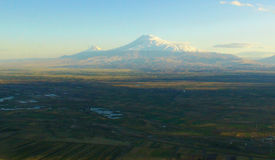 Ararat, Armenia. Famous biblical mount Ararat in Turkey Stock Image