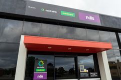 Centrelink, Medicare and NDIS office in Ararat in Australia Stock Photography
