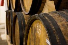 Ararat cognac. Tuns of Armenian cognac at the factory Ararat stock photography