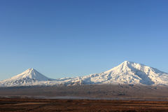 Ararat in de winter Stock Afbeelding