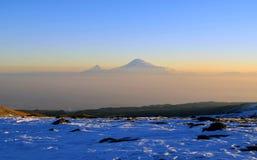 Ararat i soluppgång Arkivbild