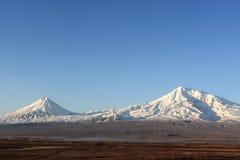 Ararat im Winter Stockbild
