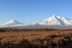Ararat in the morning. View from Armenia Royalty Free Stock Photography