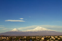 Ararat mounatain. Ararat moutain from city Ararat where dawn Noah's ark Stock Images