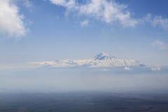 Ararat mounatain. The view of holy mountain from Ara where dawn Noah's Ark Royalty Free Stock Photo