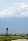 Ararat mountain. Armenia-Turkey border in spring Royalty Free Stock Photography