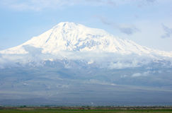 Ararat mountain. Armenia-Turkey border Royalty Free Stock Images