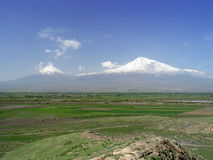 Ararat Mountain. View from Armenia Stock Photo