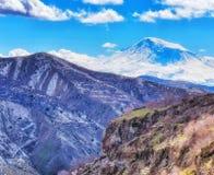 Ararat Mountain. The Ararat Mountain in Armenia royalty free stock images