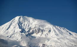 Ararat mountain. In Turkey, view from Armenia Stock Photos